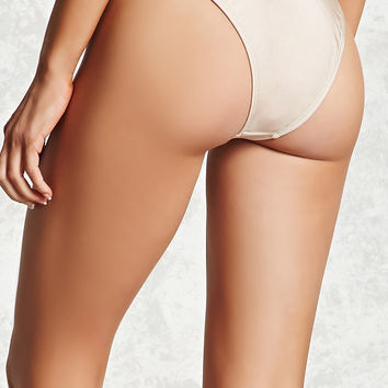 Metallic Cheeky Bikini Bottoms