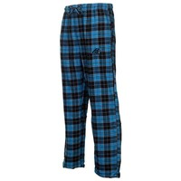 Carolina Panthers Roster Flannel Pants - Black/Light Blue