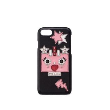 Saffiano leather cover for iPhone 7