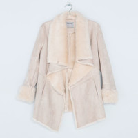 Bershka United Kingdom - Bershka fur-lined V-neck coat