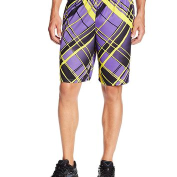 Champion Men's Intensity 10-Inch Shorts, Purple X-Factor Plaid