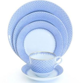 MOTTAHEDEH Cornflower Blue Lace Dinnerware Collection  sc 1 st  Wanelo & Best Blue Dinner Plate Sets Products on Wanelo