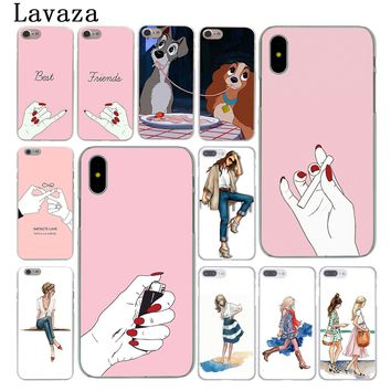 Lavaza Best Friend Girlfriend Boyfriend Shopping girl Case for Apple iPhone 6 6s 7 8 Plus 4 4S 5 5S SE 5C for iPhone XS Max XR