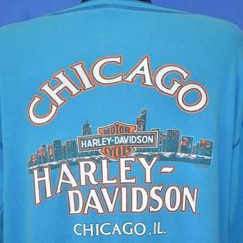 90s Harley Davidson Chicago Long Sleeve  t-shirt Extra Large