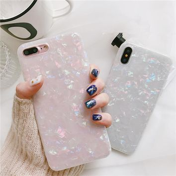 Luxury Glitter Candy Color Pink White Bling Silicone Clear Soft Phone Case For Samsung Galaxy S7 Edge S8 S8Plus S9 S9Plus Note8