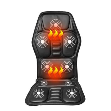 Heated Back Cushion Massage Seat Car Home Office