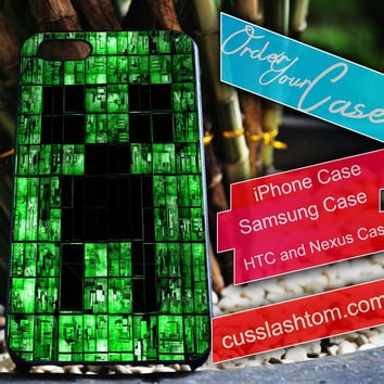Exclusive Minecraft iPhone for 4 5 5c 6 Plus Case, Samsung Galaxy for S3 S4 S5 Note 3 4 Case, iPod for 4 5 Case, HtC One M7 M8