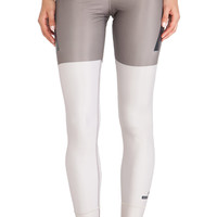 adidas by Stella McCartney Techfit Running Tights in Olive