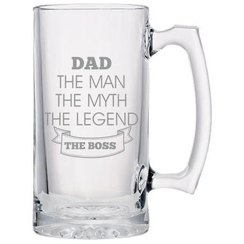 Dad The Boss Beer Mug, Beer Mugs For Dads, Father's Day Mugs, Father's Day Gifts, Father's Day Presents, Father's Day Gift Ideas