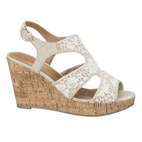Daisy Crochet Wedge - Beige