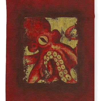 Giant Red Octopus - Blanket