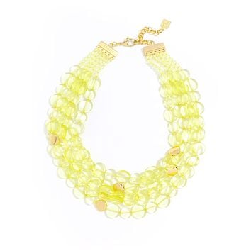 Clear Mod Bib Necklace