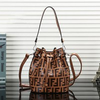 FENDI Hot Sale Popular Women Leather Handbag Tote Crossbody  Satchel Shoulder Bag