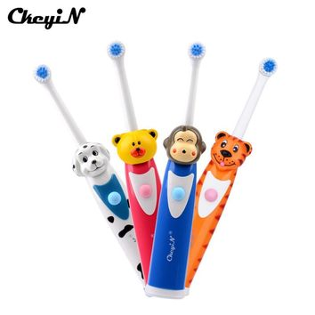 Soft Silicone Baby Kids Teether Training Toothbrushes Cute Cartoon Electric Toothbrush For Children Gum Massage Brush Oral Care