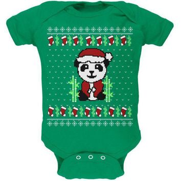 CREYCY8 Ugly Christmas Sweater Panda Soft Baby One Piece