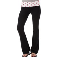 So Low Ohio State Buckeyes Womens Ditsy Yoga Pants - Black