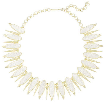GWENDOLYN STATEMENT NECKLACE IN CRUSHED IVORY PEARL by  Kendra Scott