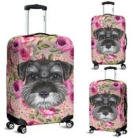 Schnauzer Puppy Luggage Cover