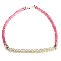 Sterling Silver Freshwater Cultured  PinkNecklace