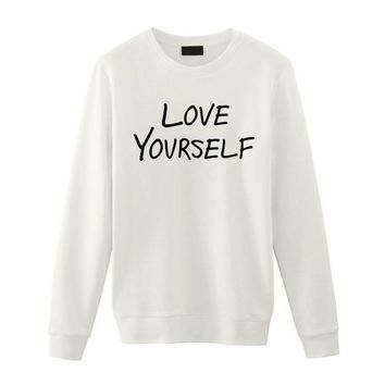 Justin Bieber / Love Yourself / Unisex Sweatshirt Sweater / Tumblr Inspired