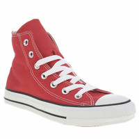 womens converse red as hi ii trainers