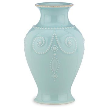 Lenox 869508 French Perle Ice Blue Bouquet Vase, 8 | Overstock.com Shopping - The Best Deals on Vases
