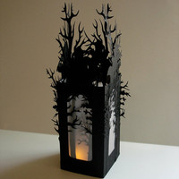 Haunted Forest Luminarys Set of 2 A by MasonRabbitsPaperie