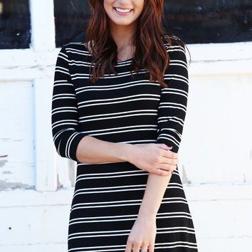 Easy On The Stripes Dress