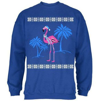PEAPGQ9 Flamingo Winter Ugly Christmas Sweater Mens Sweatshirt