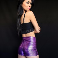 High Waisted Women's Disco Shorts