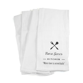 Loved is Served Daily - Personalized Kitchen Towels with a Name