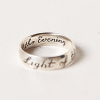 Engraved Light of the Moon Ring