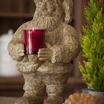 Resin Santa Claus (Carved Wood)