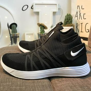 NIKE LUNARGLIDE 4.5 on the moon knit Velcro elastic super light running shoes F-CSXY black