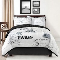 Idea Nuove Inc Eifel Tower 4 Piece Comforter Set Comforter Sets