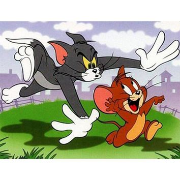 5D Diamond Painting Tom and Jerry Chase Kit