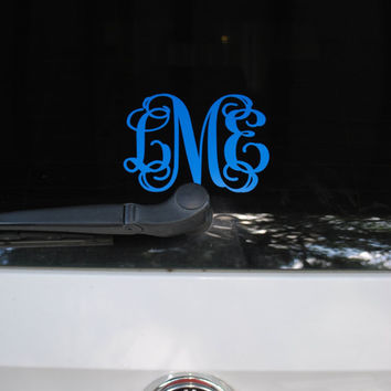 5 inch Monogram Vinyl Decal by CharlestonMonograms on Etsy