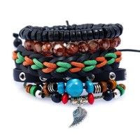 Awesome Shiny Great Deal New Arrival Hot Sale Stylish Gift Set Leather Bracelet [250988953629]