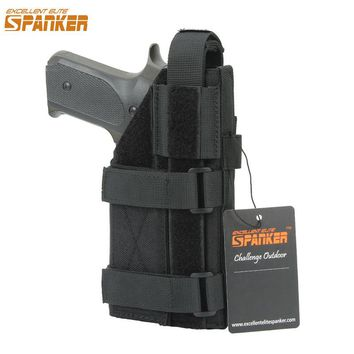EXCELLENT ELITE SPANKER Tactical Universal Pistol Holster Outdoor Hunting Military Molle Equipment Bags Adjustable Pistol bag