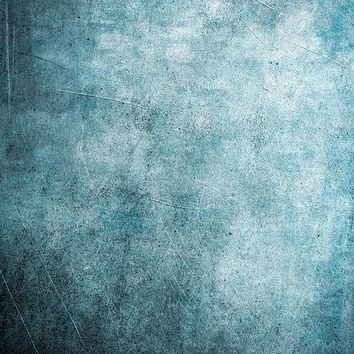 Printed Textured Aqua Concrete Wall Grunge Backdrop - 6946