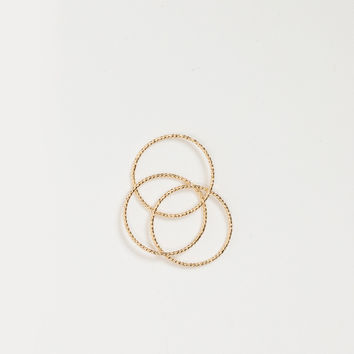 Eva Gold Dainty Ring Set