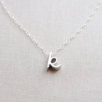 Silver Cursive Initial Necklace - 1160