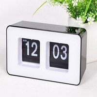 Digital Auto Flip Desk Clock Classic Stylish Retro Desktop Flip Page Alarm Clocks Household Bedroom Study Kitchen Office Clock