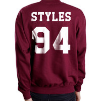 Styles 94 White Ink on Back Harry Styles Crewneck Sweatshirt
