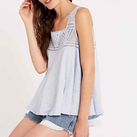 Free People Costa Mesh Swing Top in Light Blue - Urban Outfitters