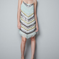 SEQUINNED DRESS - Dresses - TRF - ZARA Canada