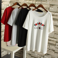 Fashion GUCCI short sleeve man women tee T-shirt top plus size