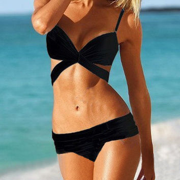 Strappy Push Up Back Tying Bikini