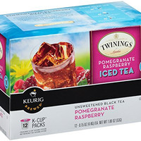 Twinings Pomegranate Raspberry Iced Tea, Keurig K-Cups, 12 Count
