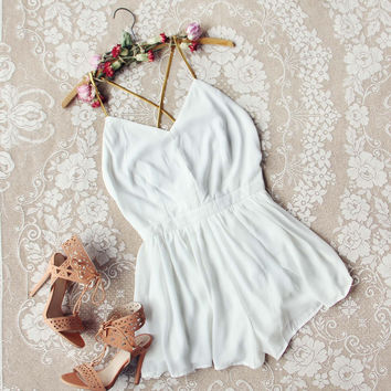 Ancient Rose Romper in White
